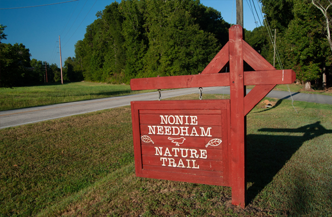 Nonie Needham Nature Trail Sign
